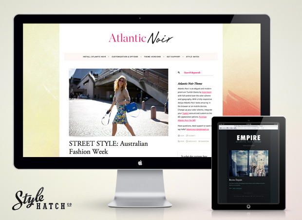 Atlantic Noir - Mobile Site Design